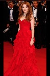 Thank you Oscar for showing me that my auburn hair would look stunning with a red gown!