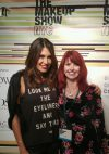 Wende from Urban Decay and myself having a chat!